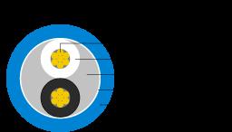 Schemat przedstawiający przekrój kabla głośnikowego