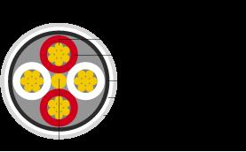 Schemat ukazujący przekrój kabla Spca5